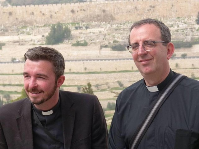 David and Richard Coles in the Holy Land in 2012