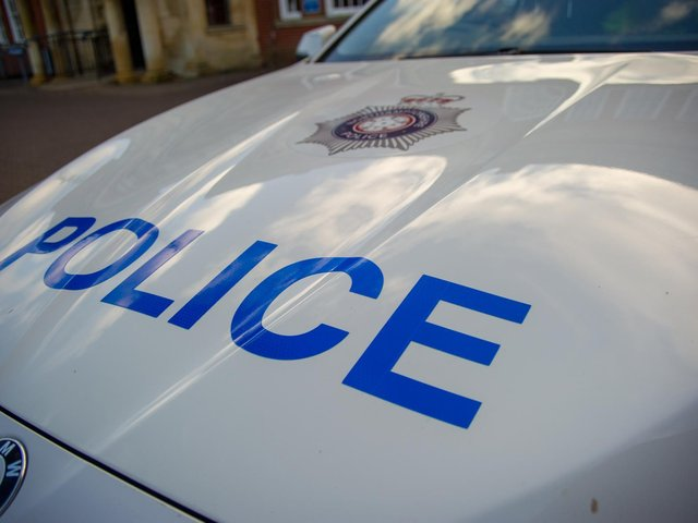 Drugs and an offensive weapon was recovered from an untaxed car in Corby.