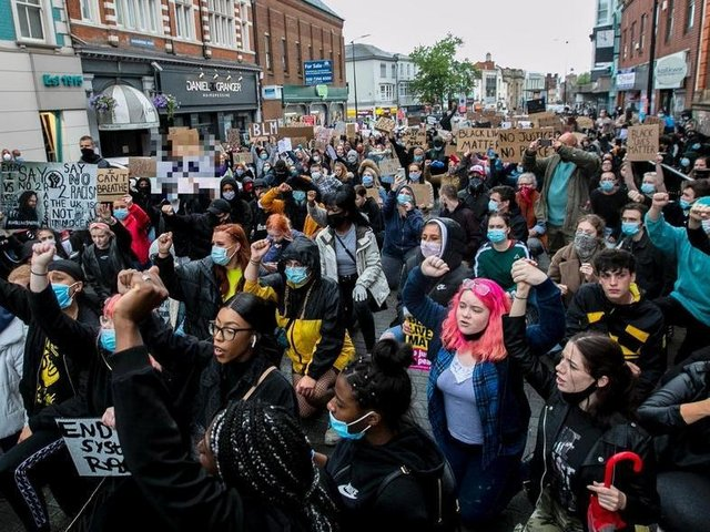 The Black Lives Matter protest in Northampton last June