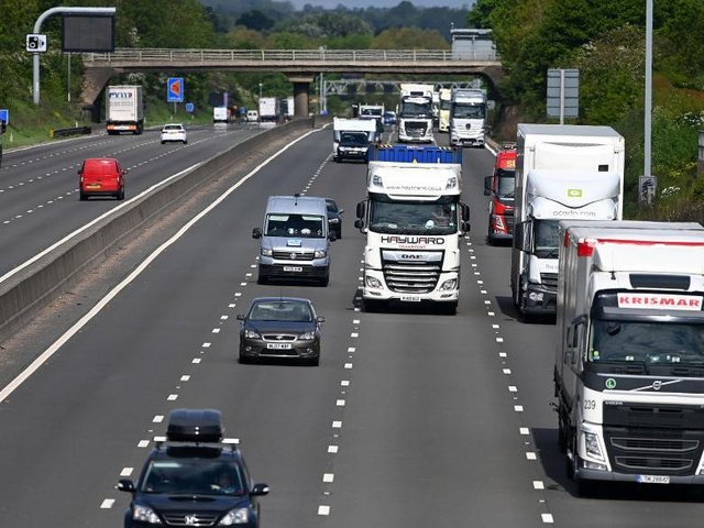 Last night's smash happened on the M1 between Daventry and the M45. Photo: Getty Images