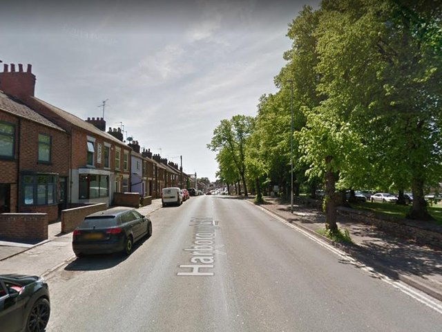 The attack happened when the victim was walking along Harborough Road in Kingsthorpe.