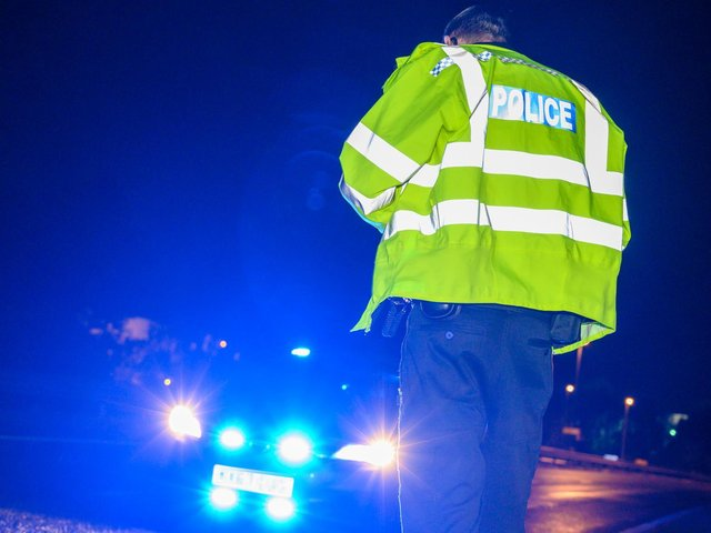 There has been a collision between a car and a lorry on the M1.