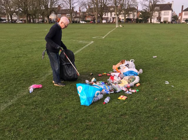 Selfless volunteers cleared the litter this morning.
