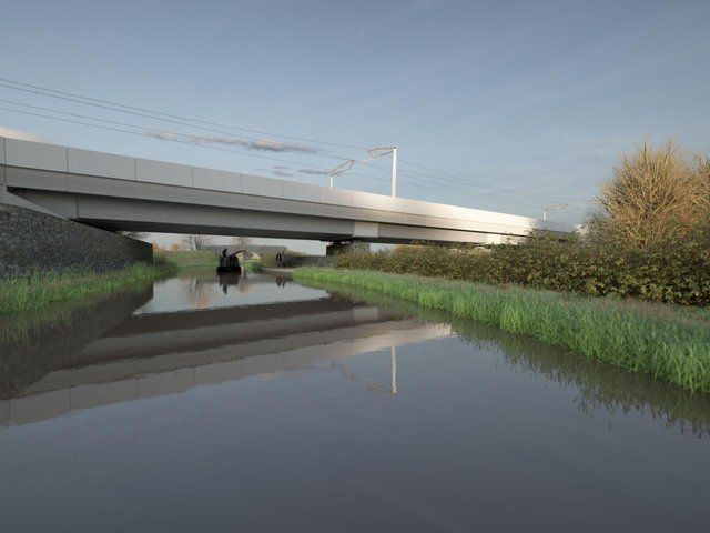 An artist's impression of the Oxford Canal Viaduct