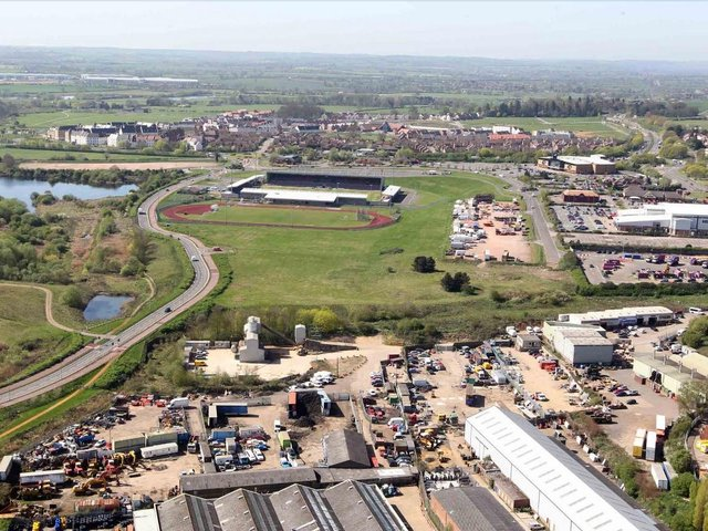 The view from Northampton Lift Tower, taken in 2011