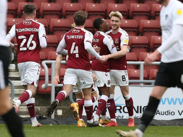 Ryan Watson is the Cobblers' top scorer in the league this season, with six goals