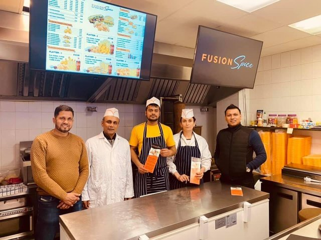 Raff (right) and the Fusion Spice team