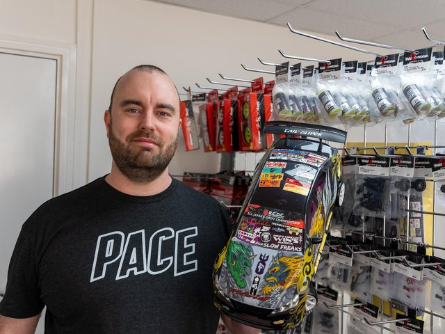James Simpson's dream is to build a permanent racetrack for supercharged RC cars.