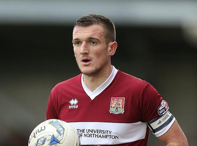 Lee Collins played 86 times for the Cobblers