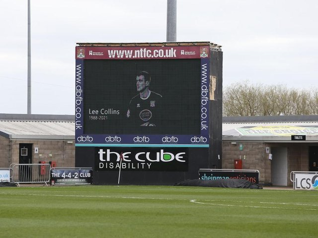 There was a minute's silence in memory of Lee Collins ahead of the Cobblers win over Shrewsbury