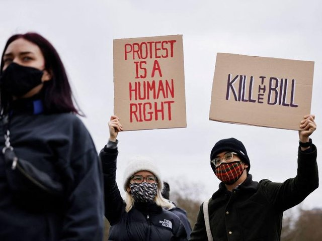 Kill the Bill protest - Photo by Tolga Akmen / AFP) (Photo by TOLGA AKMEN/AFP via Getty Images)