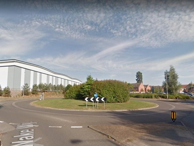 The collision took place on the roundabout near Wake Way in Grange Park, Northampton.