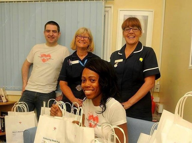 The Lewis Foundation's first ever donation at Northampton General Hospital in 2016.