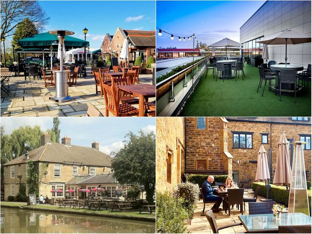 Many restaurants and pubs in Northamptonshire are reopening their stunning outdoor spaces from April 12.
