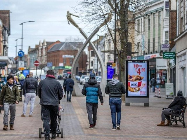 Non-essential shops will finally reopen in Northampton town centre on Monday (April 12). Photo: Kirsty Edmonds.