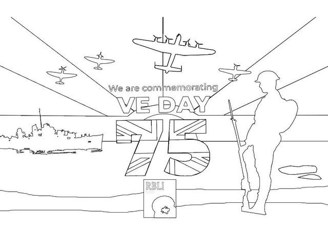 The Royal British Legion has created a colour-in poster to display in the window.