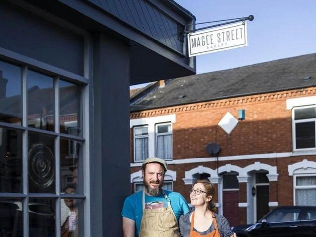 File photo. After two months of lockdown, Jooles and Carl Joyce have reopened their Magee Street Bakery coffee shop as a takeaway.