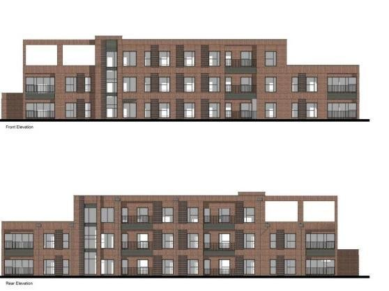 The planned exterior of the three-storey block of flats. Photo: Baily Garner.