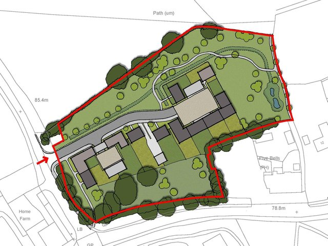 How the 12 homes on land to the north of Church Lane in Bugbrooke would be laid out if approved. Photo: Land Allocations/Clendon Architecture