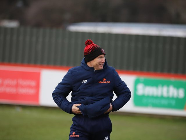 Brackley Town boss Kevin Wilkin has been given the green light to prepare for next season. Picture by Peter Short