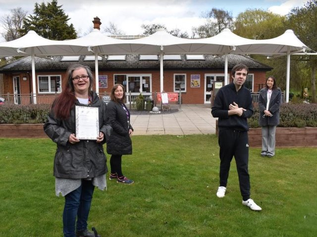 Workbridge staff were presented with a Rose of Northamptonshire award.