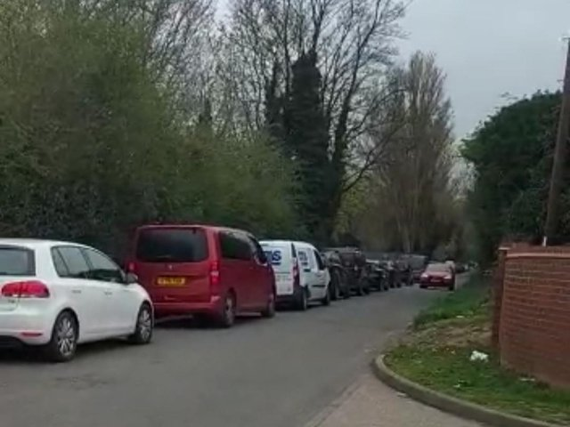 The queues into the tip stretching all the way down Lower Ecton Lane