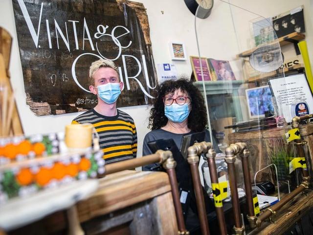 Co-owners Matthew Lewis and Julie Teckman of Vintage Guru on St Giles Street