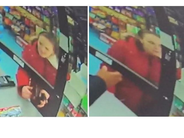 Police want to speak to this woman about a burglary in George Street, Wellingborough