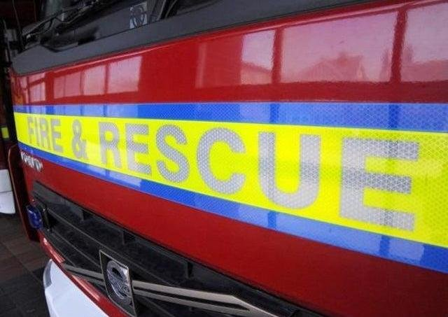 Fire crews are at the scene between Daventry and Banbury