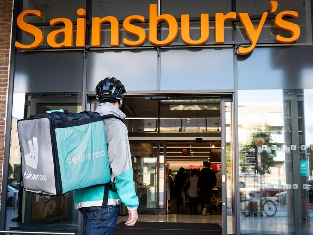 Customers in Northampton can now order a range of Sainsbury's products on Deliveroo for the first time.