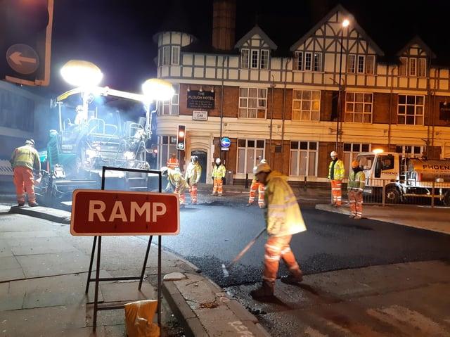 Resurfacing works in Bridge Street