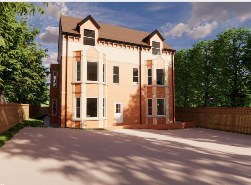 An artist's impression of what the care home conversion could look like