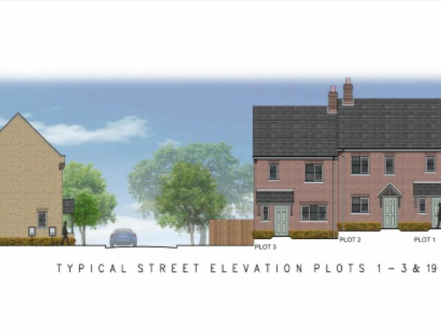 An artist's impression of what the houses could look like