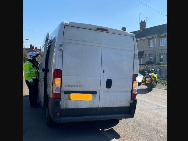 The stolen Peugeot Van was found in Walgrave.