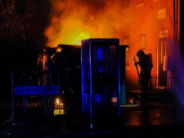 Semilong Road Fire. Photo by Pete Cobbe.