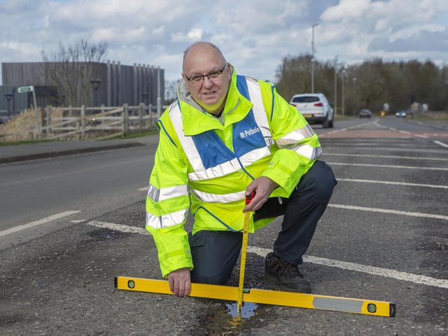 Mark Morrell, known as Mr Pothole, has been campaigning for better roads for years, especially in Northamptonshire