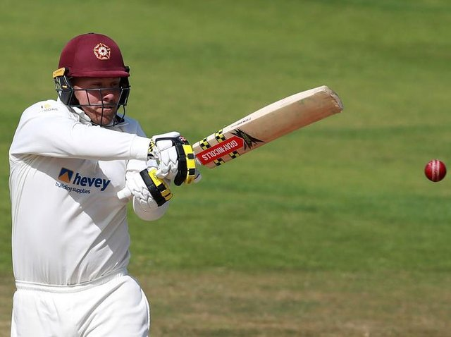 Skipper Adam Rossington top scored for Northants with 49