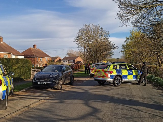 Armed police had the house in Harpole surrounded