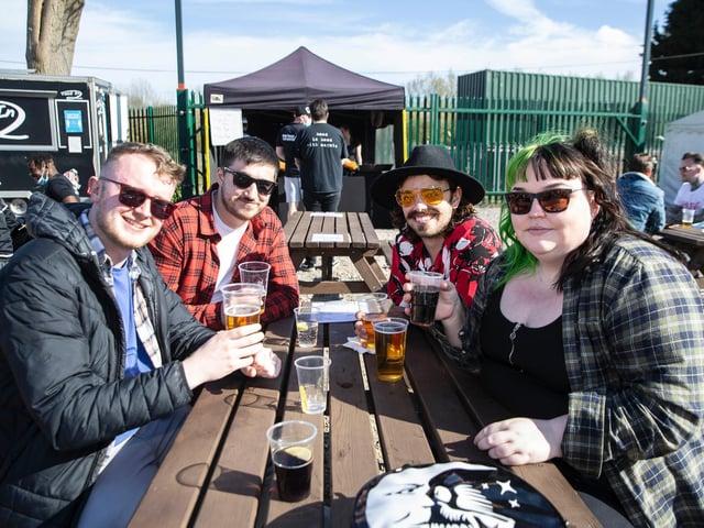 Duston Mill Beer Garden on Friday (April 16). Photo: Kirsty Edmonds