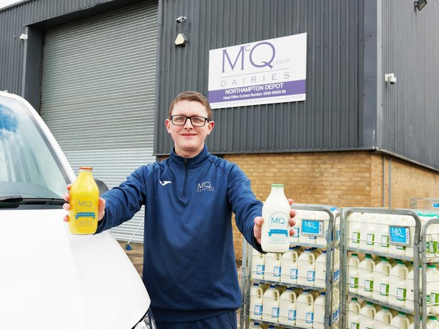David Rodger, the manager at McQueens Dairies' new depot in St James Mill Business Park, Northampton