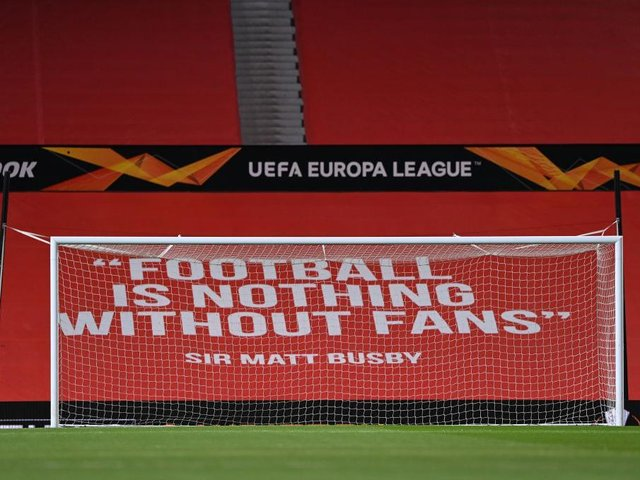 A banner at Old Trafford.
