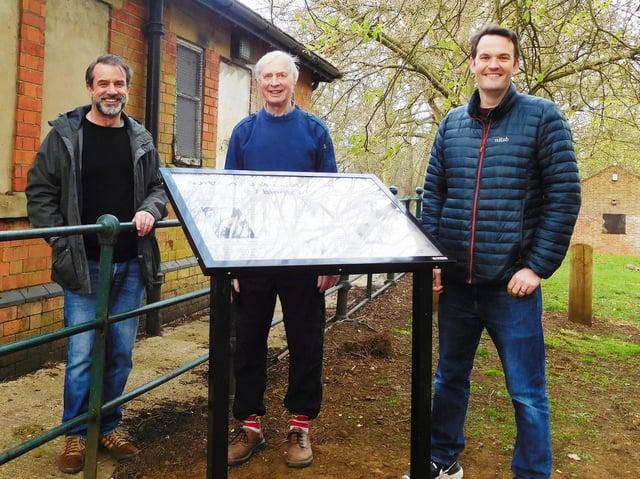 Abington Park Heritage Trust Trustees at the interpretation board at Park Avenue South traffic light junction