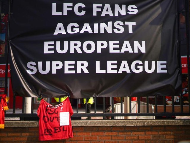 Football fans across the country have reacted angrily to the plans for a European Super League