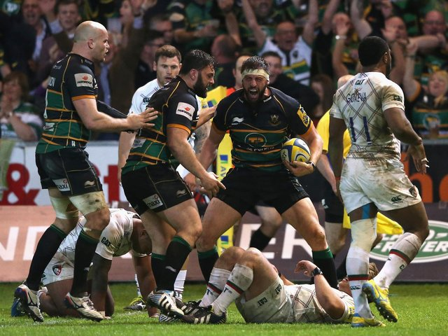 Tom Wood scored a memorable winning try against Tigers in 2014