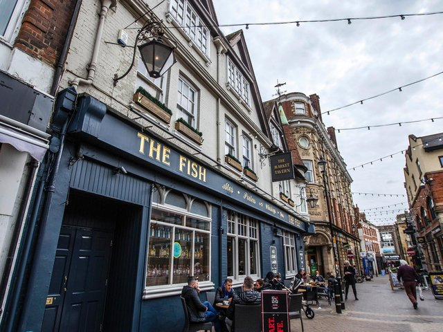The Fish pub, formerly The Market Tavern, on Fish Street reopened on Monday after the lockdown. Photo: KIrsty Edmonds