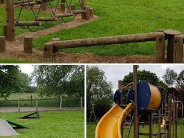 Much of the equipment at the playground at Kislingbury Playing Fields has become broken beyond repair
