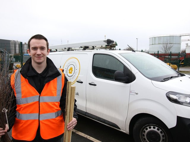 Josh has recently started as a handyperson for the company.