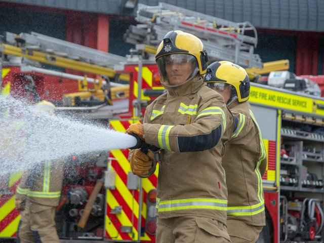 Firefighters used one hose reel jet to successfully put out the fire.