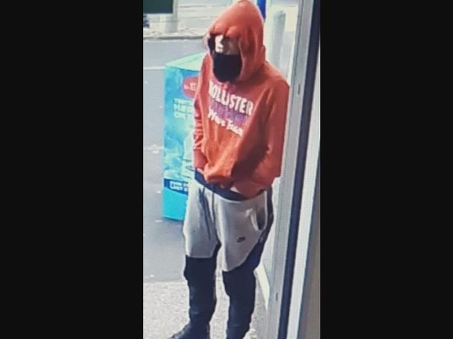 Police want to speak to this man in connection with the robbery.