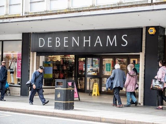 Debenhams in Drapery will shut by mid-May.